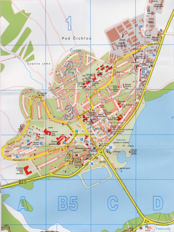 Mapa Námestova - veľká