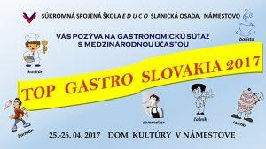 TOP GASTRO SLOVAKIA 2017 @ Dom kultúry v Námestove