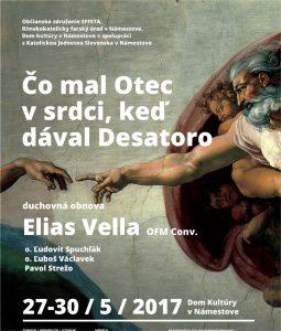 Elias Vella - čo mal otec v srdci, keď dával desatoro @ Dom kultúry