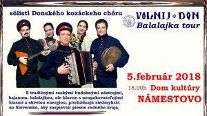 VOLNIJ DON – BALALAJKA TOUR 2018 @ Dom kultúry v Námestove