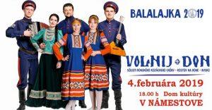 VOLNIJ DON – BALALAJKA TOUR 2019 @ Dom kultúry v Námestove